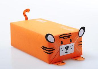 Yuk, Berkreasi Membuat Bungkus Kado Harimau yang bisa Mengaum!