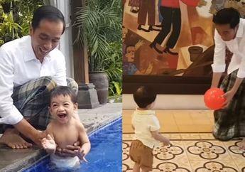 4 Momen Jokowi Bersama Sang Cucu, Jan Ethes, dari Bermain Bersama Sampai Ikut Menyapa Warga