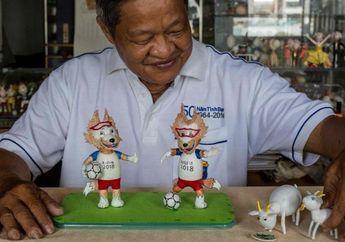Unik! Pengrajin Asal Vietnam Ciptakan Maskot Piala Dunia 2018 dari Kulit Telur