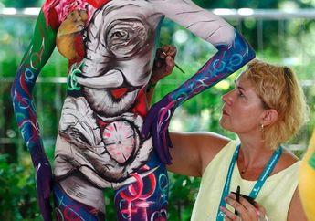 Ketika Tubuh Manusia Dijadikan Kanvas di World Bodypainting Festival