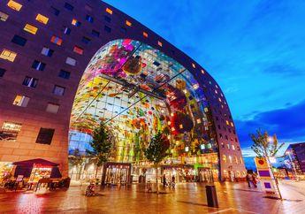 Markthal Rotterdam, Food Market Artsy Dengan Interior Mural Raksasa