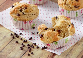Bahan Bakunya Mudah Banget Didapatkan, Yuk, Langsung Kreasikan Muffin Pisang Selai Kacang Ini