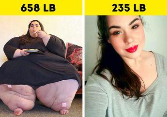 Anda Pasti Bisa Kurus! 5 Foto Before After Wanita Obesitas ini Bisa Jadi Motivasi