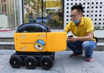 Pembelian Online Meningkat, Tiongkok Ciptakan Robot Pengantar Barang