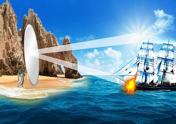 Benarkah Archimedes Hanguskan Kapal Militer Romawi 'Hanya' Bermodal Cermin?