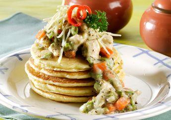Wow! Pancake Sayur Carbonara Ini Ternyata Juara Banget Lezatnya!