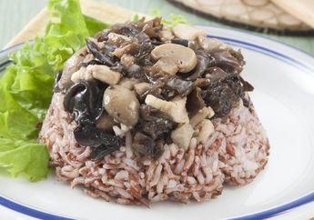 Bikin Sarapan Sehat dan Nikmat dengan Nasi Merah Kukus Jamur