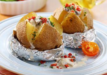 Sarapan Bak Di Hotel Karena Baked Potato With Cheese Mushroom Sauce, Sebenarnya Mudah Dibuat!