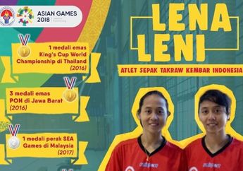 Menilik Perjuangan Lena dan Leni, Atlet Sepak Takraw Asian Games 2018 yang Pernah Jadi Buruh Cuci dan Pemulung