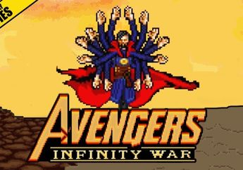 Adegan Lawan Thanos di Infinity War Dibuat Ala Video Game Retro