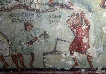 Temuan Unik di Yordania: Lukisan Romawi Kuno Mirip dengan Gambar Komik