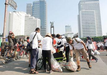 105 Kilogram Sampah Plastik Ditemukan di Area Car Free Day Jakarta