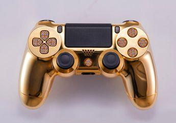 Mau jadi Sultan Gaming? Coba Beli Stik Mewah PS4 dengan Emas 24 Karat