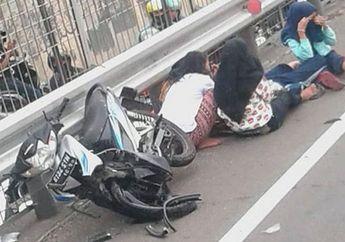 Elus Dada! Lawan Arus di Jalan Tol, 5 Bocah Cewek Dihajar Mobil
