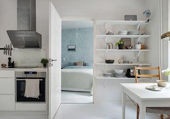 Nuansa Netral dan Bergaya Kontemporer, Inilah Tampilan Apartemen Mungil di Swedia