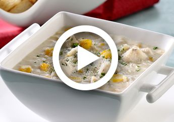 (Video) Resep Chicken Cream Soup Sederhana, Pas Hangatnya Pas Lezatnya