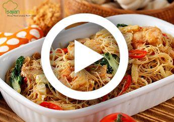 (Video) Resep Masak Bihun Goreng Bumbu Rendang, Nikmatnya Top Luar Biasa!