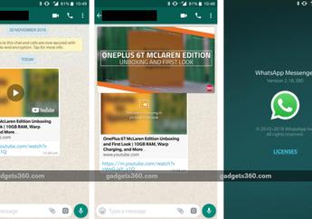 Pengguna Android Kini Udah Bisa Nonton Video Sambil Chat di WhatsApp