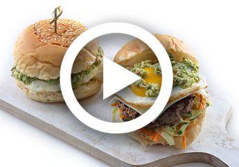 (Video) Resep Burger Salted Egg Sauce Ini Bikin Liburan Jadi Berkesan