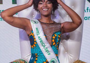Sebelum Dipakaikan Tiara, Rambut Miss Africa 2019 Tersambar Api!