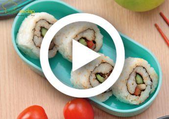 (Video) Resep Membuat Sushi Ayam Roll, Makanan Jepang yang Mudah Dibuat Sendiri di Rumah