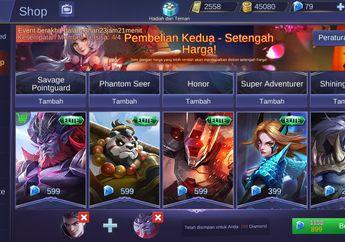 Asoy! Skin dan Hero Pilihan di Mobile Legends Ini Diskon 50% Lho
