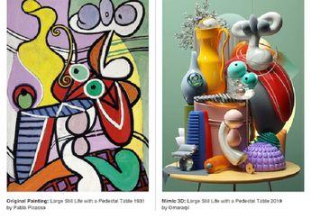 Seniman Ini Ubah Lukisan Picasso Jadi Ilustrasi 3D, Wow Keren Abis!