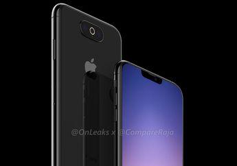 Gambar Render 'iPhone 11' dengan 3 Kamera Horisontal di Tengah & Notch Lebih Kecil