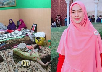 Ustaz Maulana Memberi Anaknya Susu Di Samping Jenazah Sang Istri, Oki Setiani Dewi Tak Kuasa Menahan Tangis