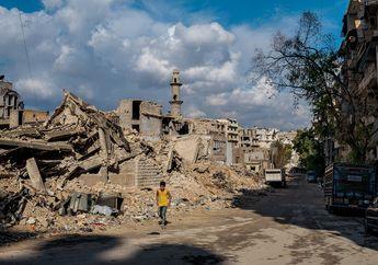 FOTO: Puing - Puing Perang di Aleppo