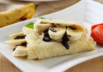 Resep Membuat Banana Choco Crepes, Sarapan Manis Yang Mengenyangkan
