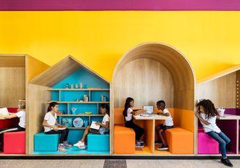 Intip Kerennya Sekolah Hayarden, Rumah Bagi Anak-anak Pengungsi dengan Tampilan Warna-Warni