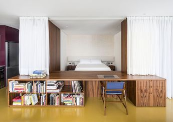 Gunakan Tirai dan Furnitur Custom, Apartemen di Sao Paolo Ini Jadi Tempat Nyaman dan Penuh Privasi