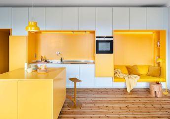 Makin Hangat dan Ceria, Apartemen di Swedia Ini Didominasi Warna Kuning
