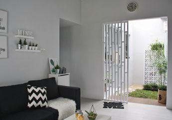 Inspirasi Desain Rumah Mungil Tipe 65, Tampak Luas dengan Konsep Monokrom
