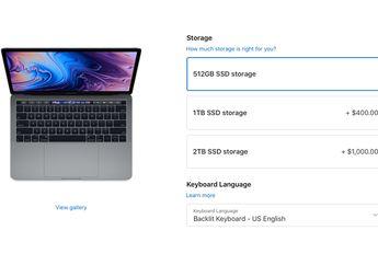 Apple Turunkan Harga Kustomisasi SSD untuk MacBook Pro