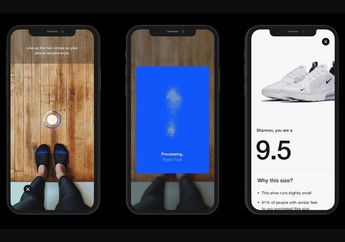 Aplikasi Nike Bawa Fitur Augmented Reality, Ukur Sepatu Lebih Akurat