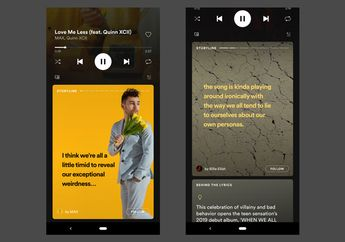 Spotify Uji Fitur Mirip Instagram Stories dengan Nama Storyline