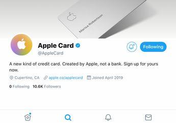 Resmi Rilis di AS, Apple Card Langsung Punya Akun Twitter