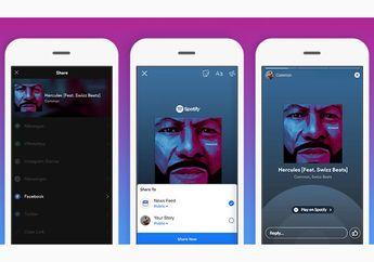 Spotify Hadirkan Fitur Berbagi Potongan Musik ke Facebook Stories