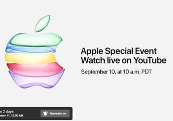 Untuk Pertama Kalinya, Apple Event Juga Disiarkan Langsung di YouTube