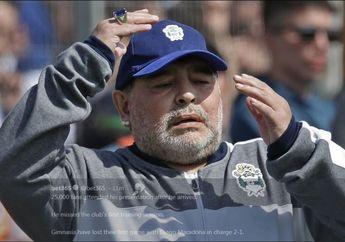 Dianggap Unik, Pelindung Wajah Diego Maradona untuk Cegah Covid-19 Jadi Sorotan Media