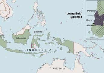 Gambar Figuratif Perburuan Tertua Berusia 44 Ribu Tahun Ditemukan di Sulawesi Selatan