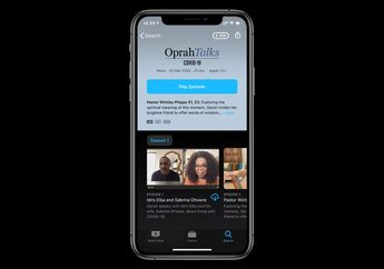 Apple TV+ Luncurkan Acara Talk Show Oprah Winfrey Bahas Covid-19