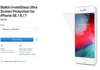 Aksesoris Pelindung Layar Bocorkan Nama dan Ukuran Produk iPhone SE 2