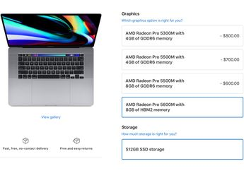 Apple Tambah Custom Order GPU AMD Radeon Pro 5600M di MacBook Pro 16 inci