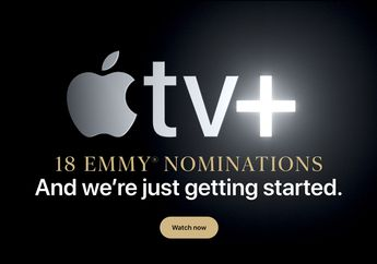 Web Apple Pajang Pengumuman Apple TV+ dengan 18 Nominasi Emmy Award