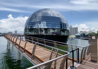 (Video) Mengintip Interior Apple Marina Bay Sands di Singapura