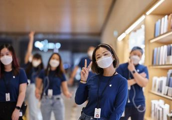 Melihat Kemasan Masker Khusus Karyawan Apple, Desain Asal Cupertino