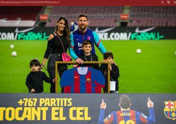 Antonela Roccuzzo Beri Tanda Messi Perpanjang Kontraknya di Barcelona